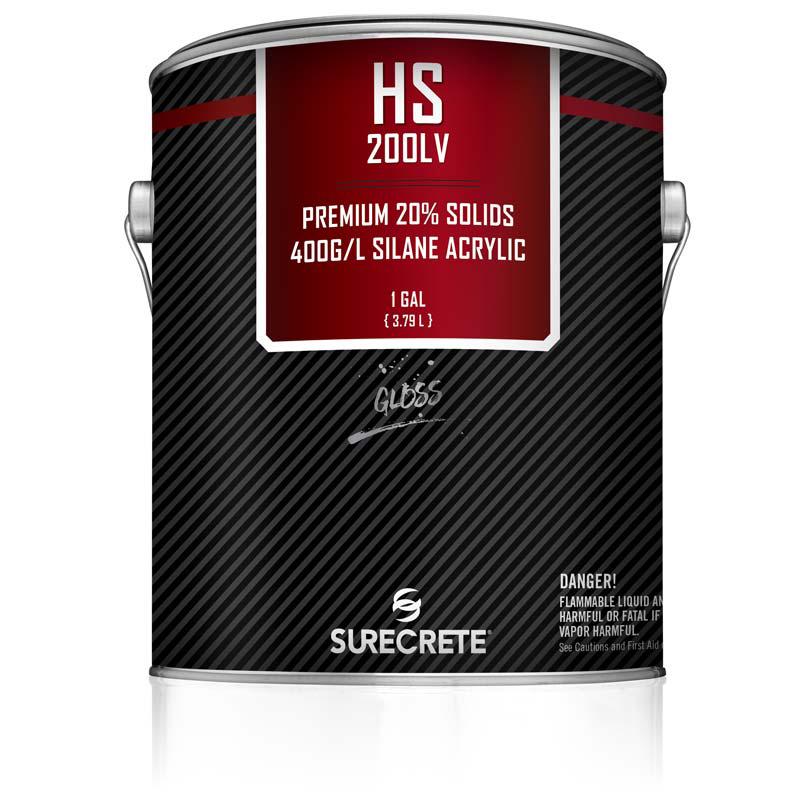 1 Gallon Option SureCrete's HS 200 Series is a premium exterior Silane Based clear stamped concrete sealer low voc