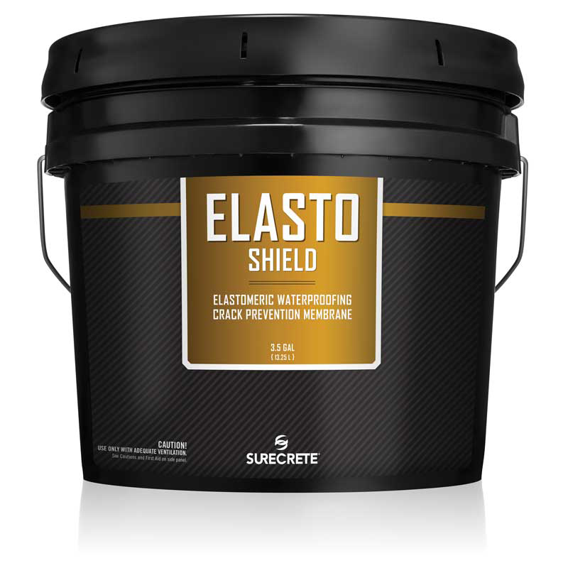 ElastoShield™ by SureCrete is a ready-to-use concrete waterproofing and cracks prevention elastomeric liquid membrane