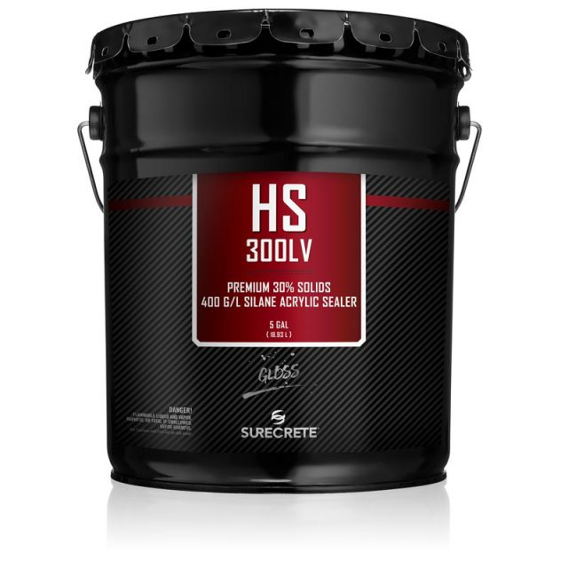 SureCrete's HS 300™ Series is a premium, high-performance, single-component, 30% acrylic solids sealer low voc