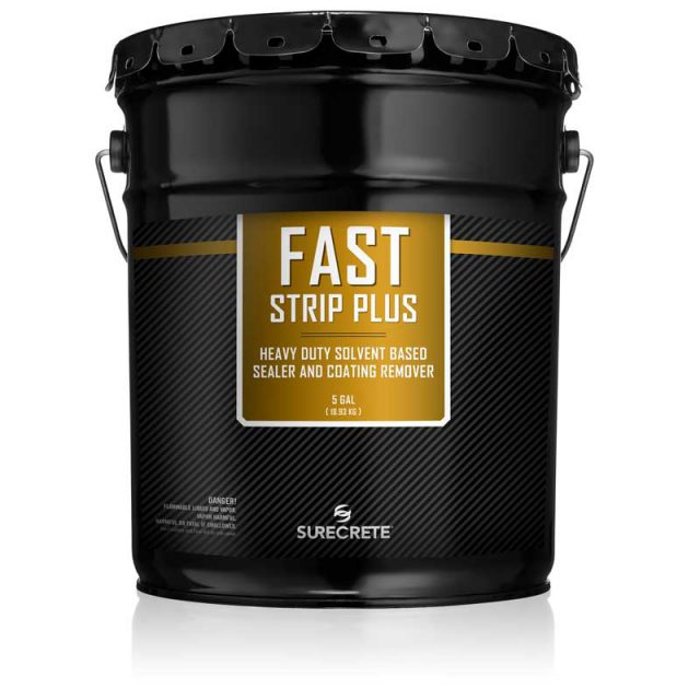 FastStrip Plus is a high-powered, solvent-based concrete sealer remover for heavy coatings and the most difficult to remove sealers