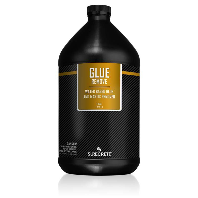 GlueRemove is a carpet glue remover that is a safe, non-flammable, water-based glue and mastic remover that effectively softens and removes most types of carpet adhesives
