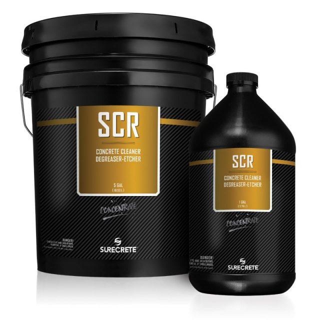 SCR concentrated concrete cleaner, degreaser, and etcher