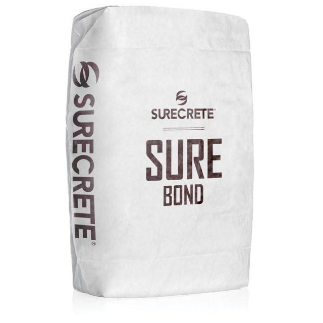 SureBond™ a concrete bonding agent for overlays and cement repair products. SureBond is a just add water product available in a 50-pound bag in a white powder form