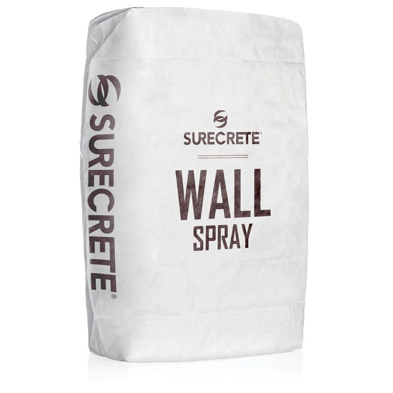 WallSpray is a lightweight thin concrete wall spray overlay mix that can resurface or texture virtually any vertical surface