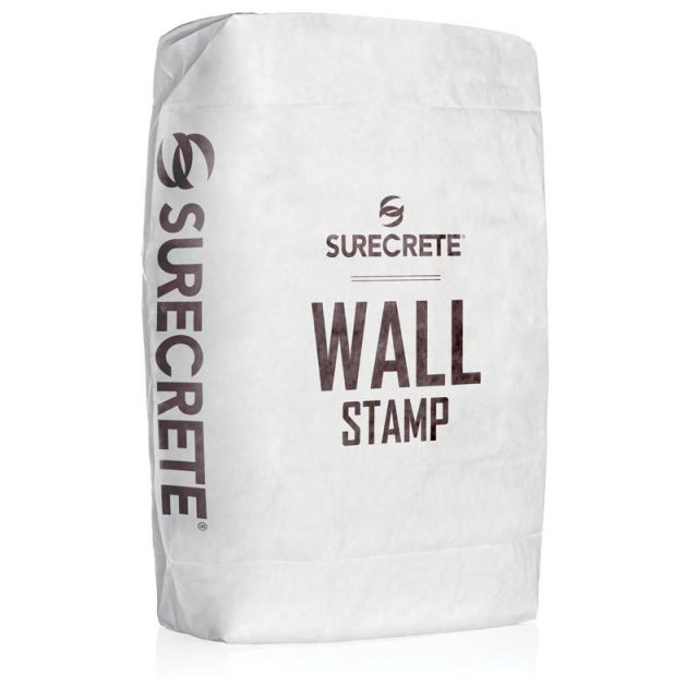 WallStamp is a concrete wall stamp overlay mix that is stampable and also carvable.