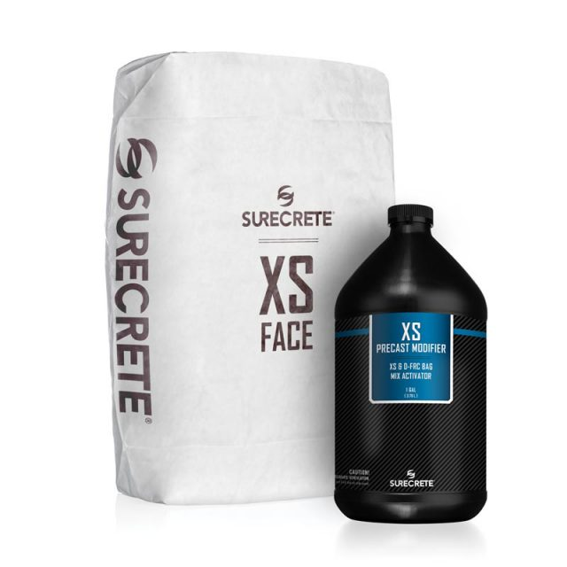 XS GFRC Face Mix is a dual component cement based bag mix that perfectly reads the mold or casting surface providing a near flawless precast casting