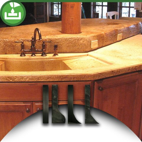 Concrete Countertop Casting Edge Profiles