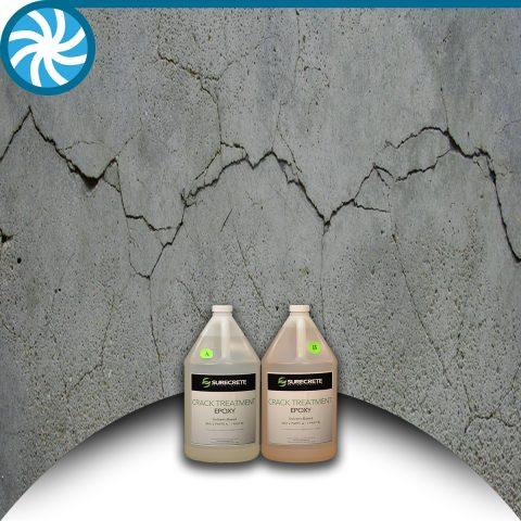 Surecrete epoxy crack treatment