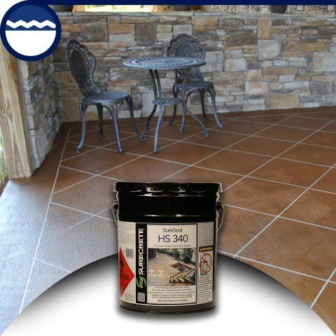 Surecrete Low VOC Clear Stamped Concrete Sealer Surecrete HS-340 Clear Stamped Concrete Products