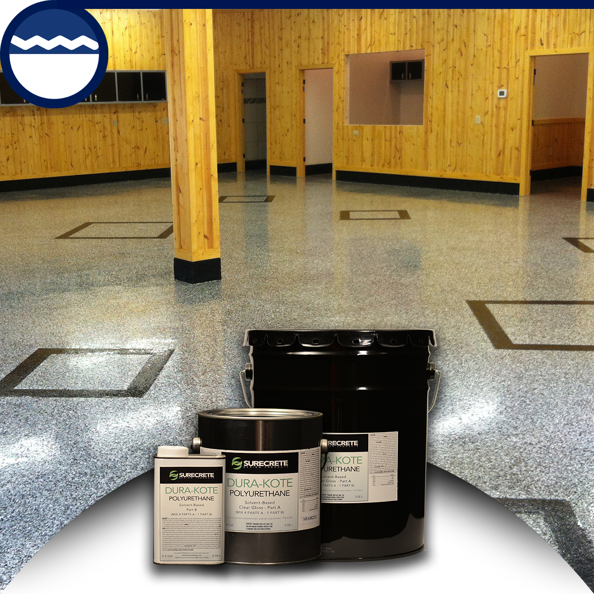 Floor Polyurethane Top Coat Sealer Surecrete Gloss or Satin Surecrete