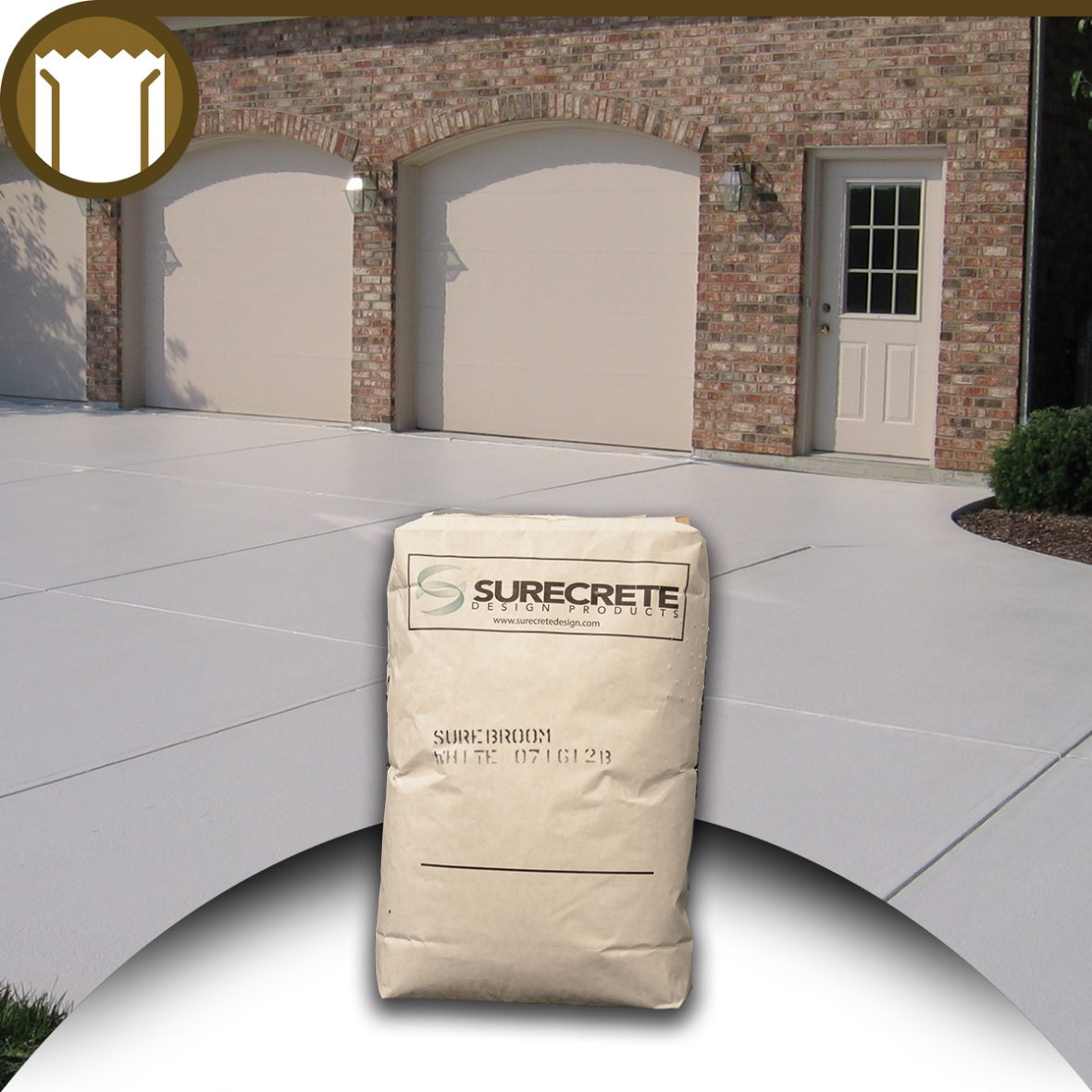 50 Lb Surecrete Broom Concrete Overlay