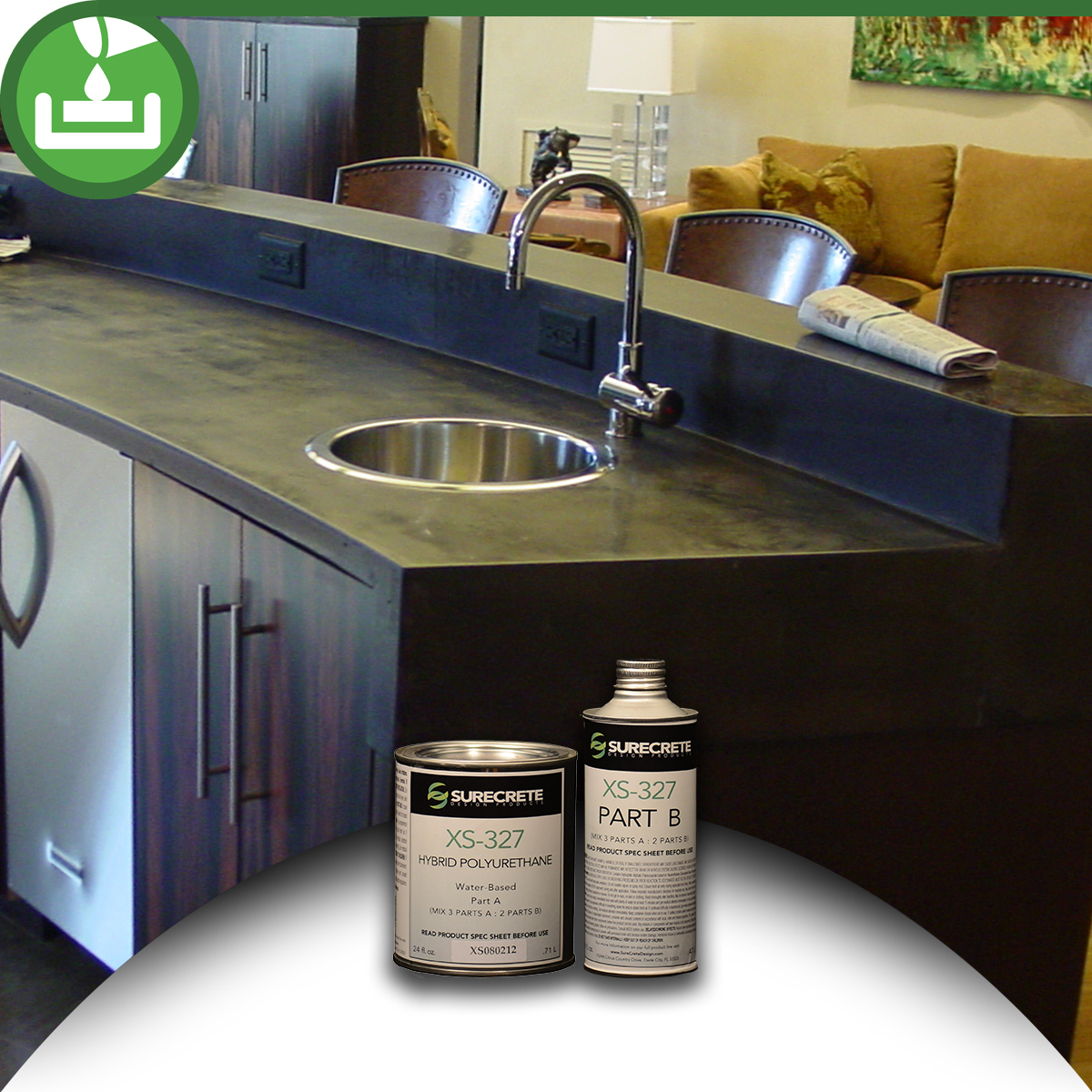 Countertop Paint Sealer : XS-327 Concrete Countertop Sealer - BDC Supply Company