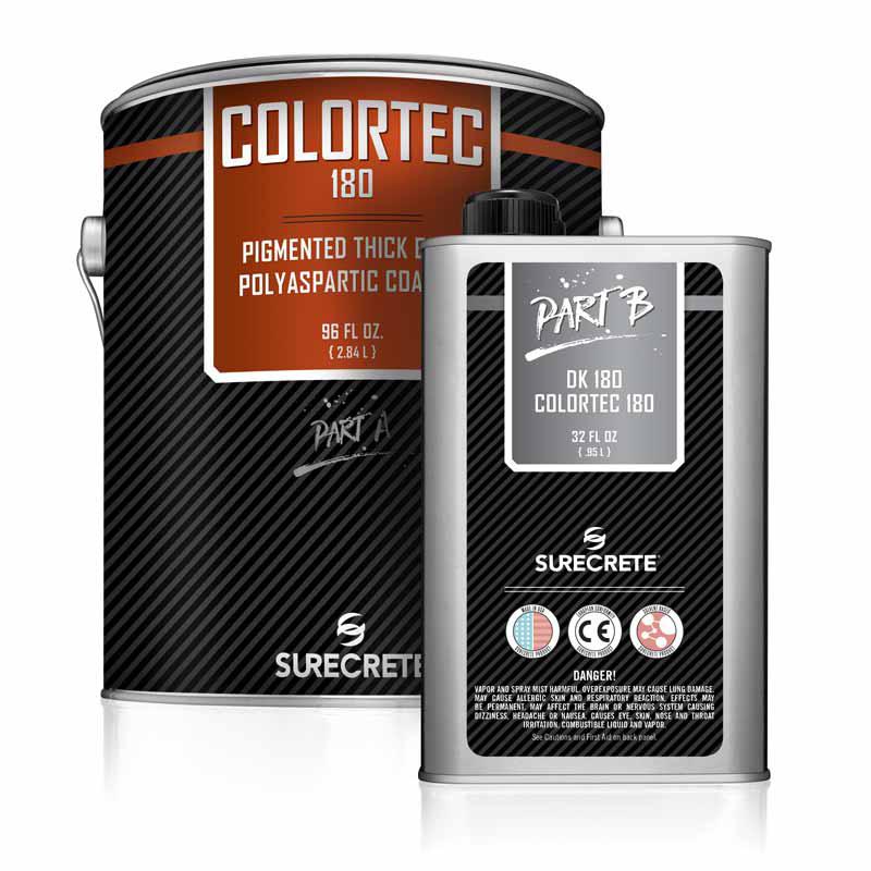 ColorTec 180™ industrial grade concrete colored floor polyaspartic coating
