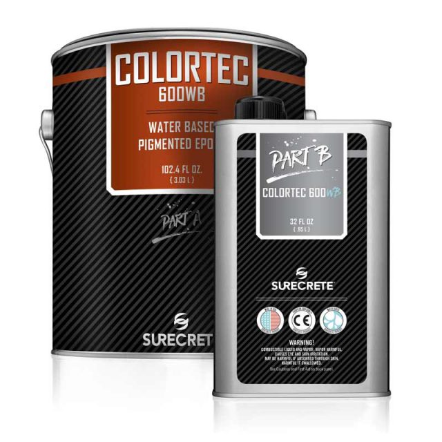 ColorTec 600WB is a water-based clear floor epoxy that has a very low VOC that can be used in almost every state