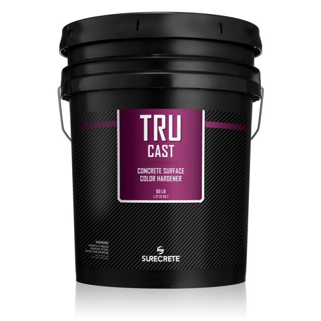 SureCrete's TruCast™ concrete colored hardener is premixed, dry-shake, colored powder concrete hardener