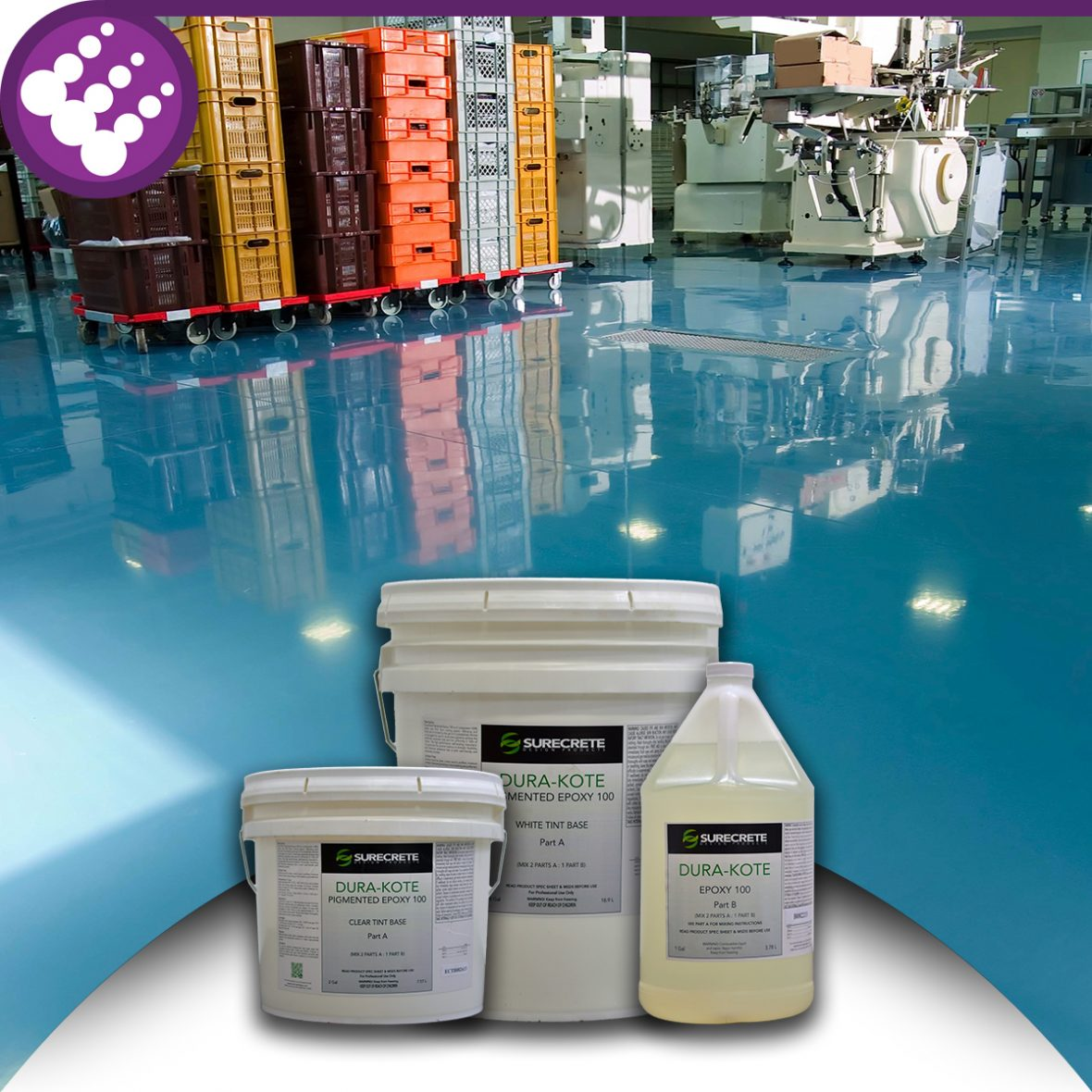 Surecrete Colored Concrete Floor Epoxy 100%