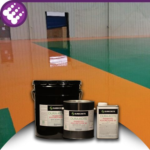 Surecrete Colored Floor Solvent-Based Polyurethane Colored Solvent-Based Polyurethane