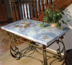 concrete countertop mix table
