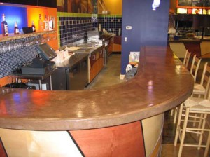 wrap arround concrete bar top