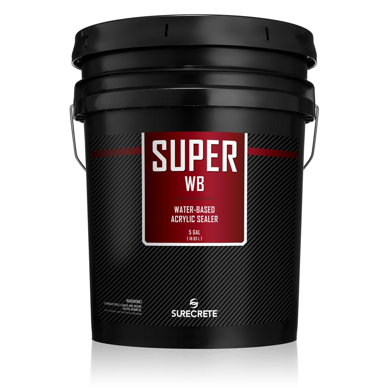 SureCrete Super WB is a water-based clear outdoor sealer for pool decks and patios on both concrete and pavers.