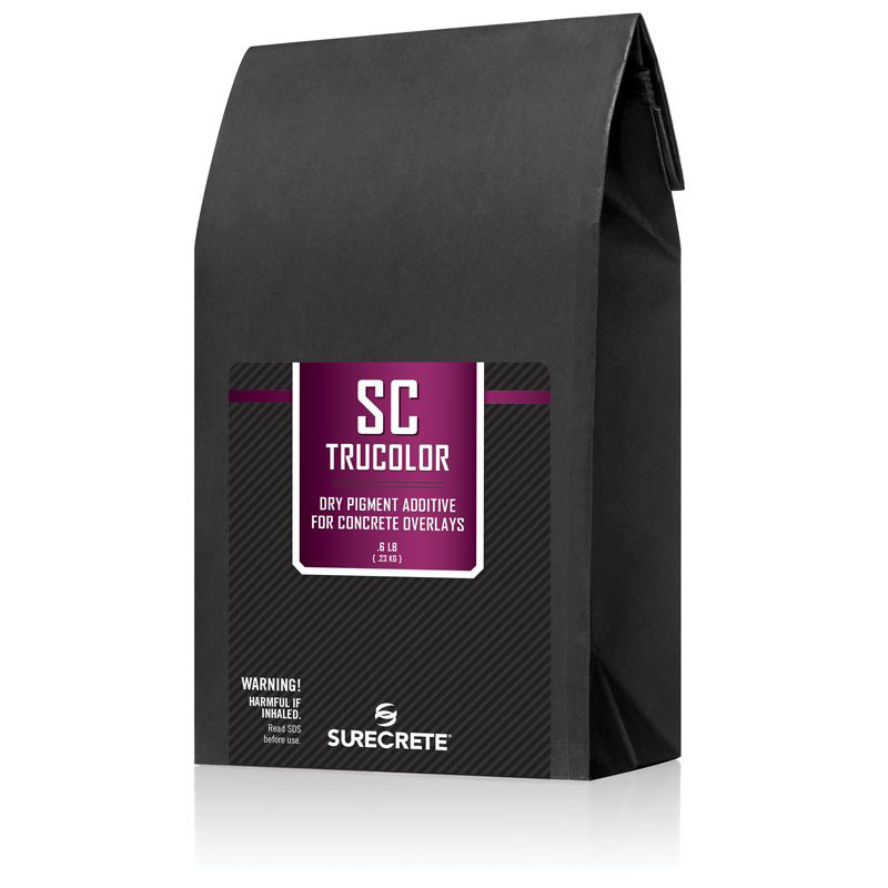 SC TruColor SureCrete's concrete color additives are conveniently measured to individually tint any single concrete bag mix